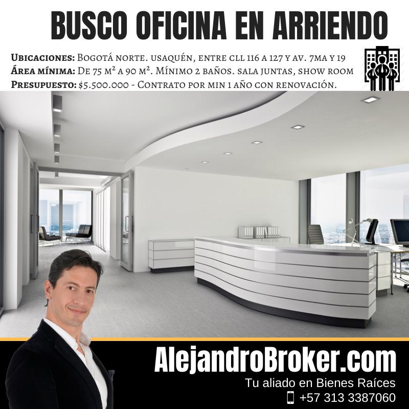 Busco Oficina en Arriendo Usaquén Bogotá