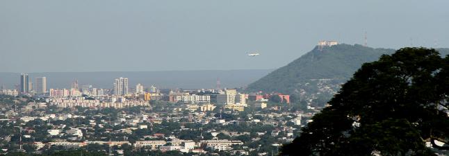 Vista de la ciudad de Cartagena desde Turbaco