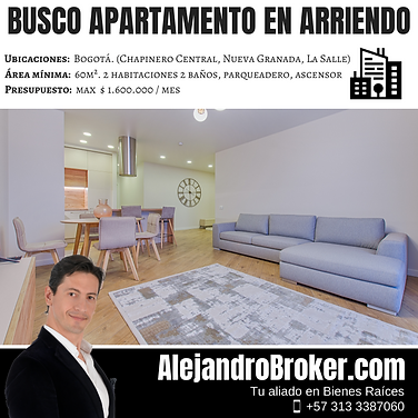 Busco Apartamento en Arriendo - 2 Alcobas 2 Baños Garaje -  Chapinero Central.