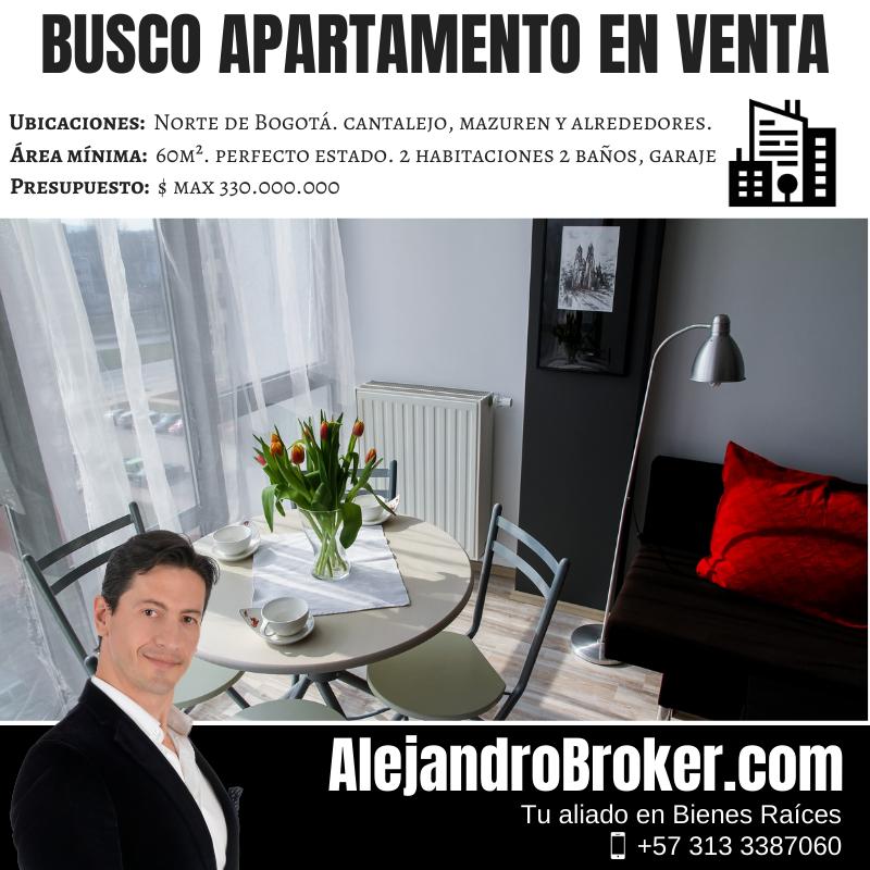 Busco Apartamento en Venta 2 Alcobas 2 Baños Garaje Cantalejo Mazurén Colina Cedritos