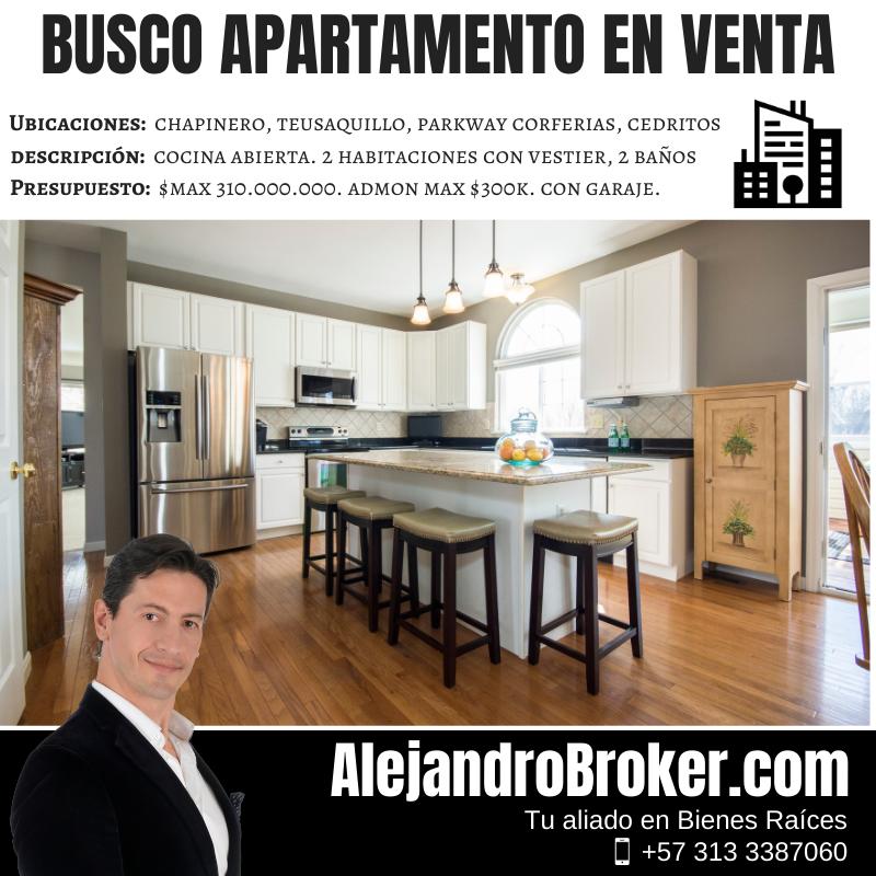 Busco Apartamento en Venta de Cocina Abierta en Bogotá
