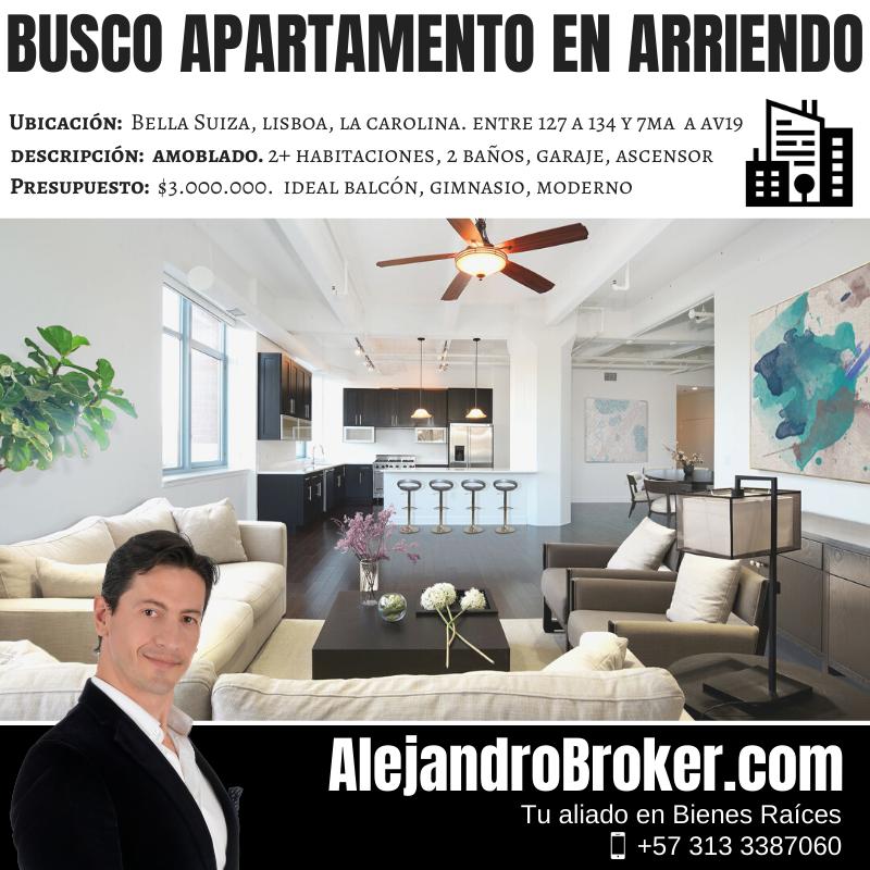 Busco Apartamento en Arriendo 2 Alcobas Country Bella Suiza Lisboa Norte Bogotá