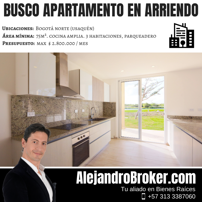 Busco Apartamento en Arriendo - 3 Alcobas -  Usaquén Bogotá.