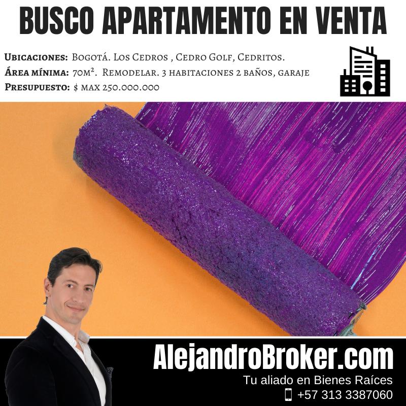 Busco Apartamento en Venta por remodelar - 3 Alcobas 2 Baños Garaje - Cedritos