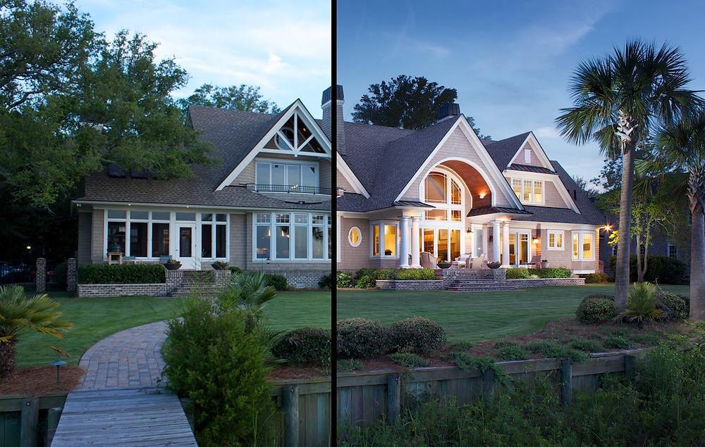 comparación de fotos de una casa