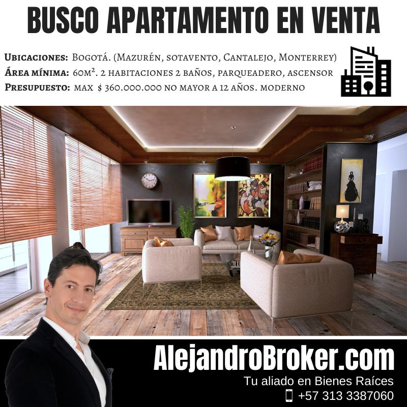 Busco Apartamento en Venta - 2 Alcobas 2 Baños Garaje Club House - Sotavento