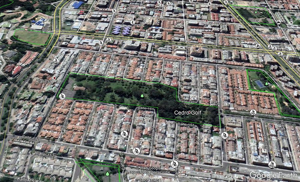 Ubicación Barrio Cedro Golf Bogotá