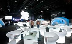 Aménagement et décoration en mobilier lumineux en location pour événement, Gamme Slide
