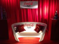 Rap sofa lumineux avec Branding