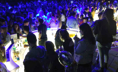 Bars lumineux à Led, en location pour événement, Gamme Slide