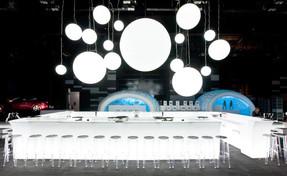 Bar et Sphére lumineux à Led, en location pour événement, Gamme Slide