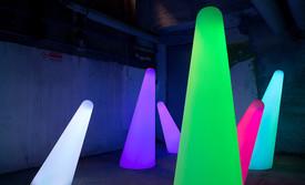 Cones lumineux en location pour événement, Gamme Slide