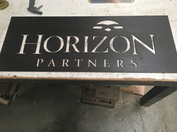 water jet cut sign