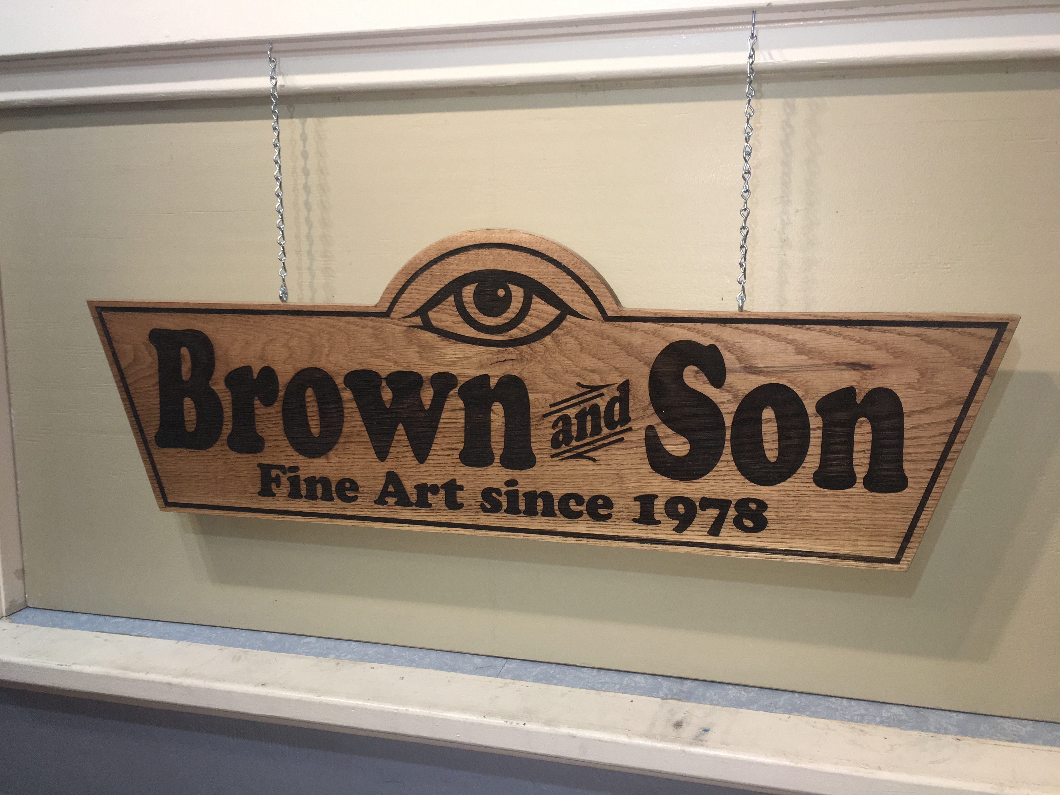wood sign cut with laser