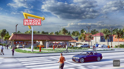 In n out Exterior Flythrough Animaion in Lumion