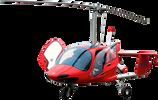 O Girocóptero é uma aeronave de aparência similar aos helicópteros.