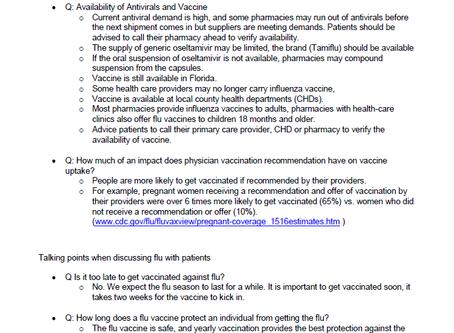 The Florida Department of Health's Bureau of Preparedness and Response Q&A