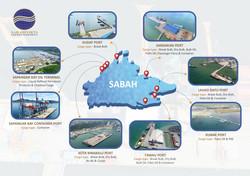 Sabah Ports Map