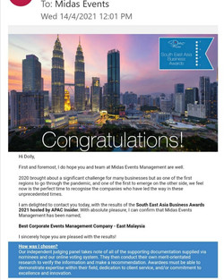 Best Corporate Event Management Company - East Malaysia