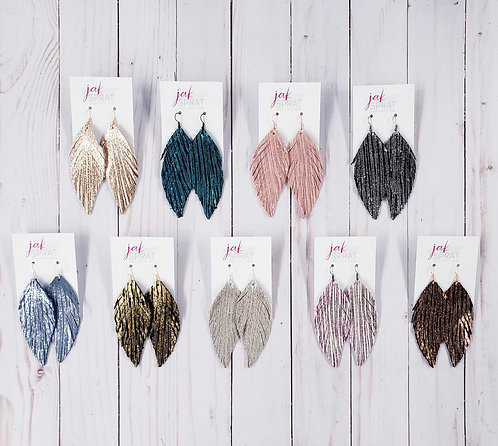 4 Inch Leather Feather Shoulder Dusters
