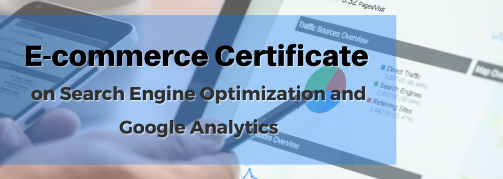(ENROLLMENT CLOSED) E-commerce Certificate on Search Engine Optimization and Google Analytics (Module 1-4)  By the end of this course, you will be able to: - Implement SEO strategies. - Get free traffic to your website with SEO. - Improve your strategies with Google Analytics data.  Date and time:  12, 20, 26 Nov and 3 Dec, 2020 at 3:30-5:00pm (Total 6 hours Online Training in 4 Modules with Certificate of Completion)  Module (1) - 12 November, 2020 (Thurs) 3:30-5:00pm Keyword Research: Steps & Strategy for SEO Optimization   Module (2) - 20 November, 2020 (Fri) 3:30-5:00pm Optimize Your Website in Google Search Results   Module (3) - 26 November, 2020 (Thurs) 3:30-5:00pm Google Analytics   Module (4) -  3 December, 2020 (Thurs) 3:30-5:00pm Main Tools for Analysis  Details: