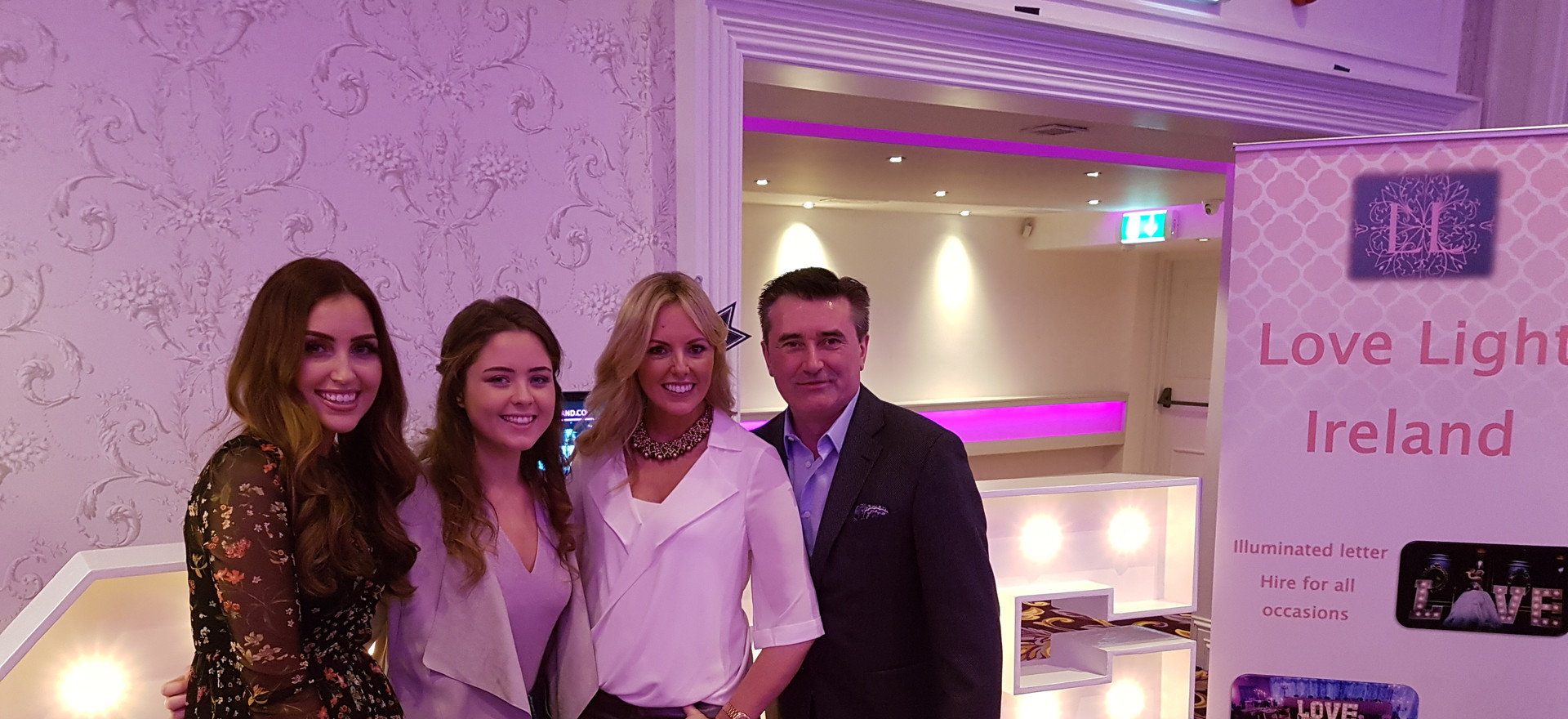 Our staff with the fantastic Tara O'Farrell MUA, Jenny McCarthy and Martin King