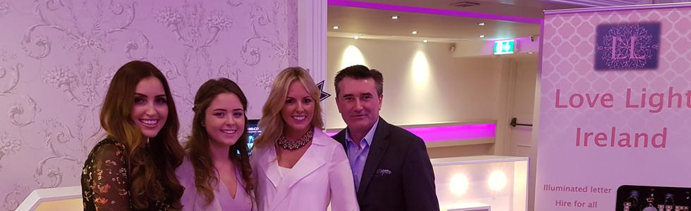 Our staff with the fantastic Tara O'Farrell MUA, Jenny McCarthy and Martin King