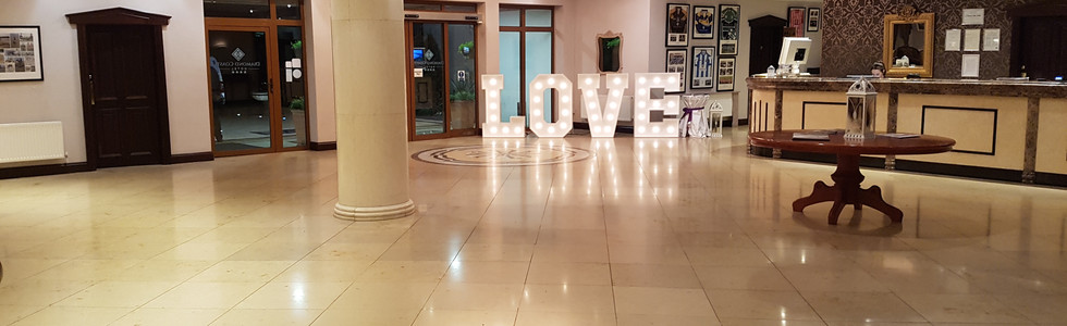 Our letters can add a touch of class to the reception too!