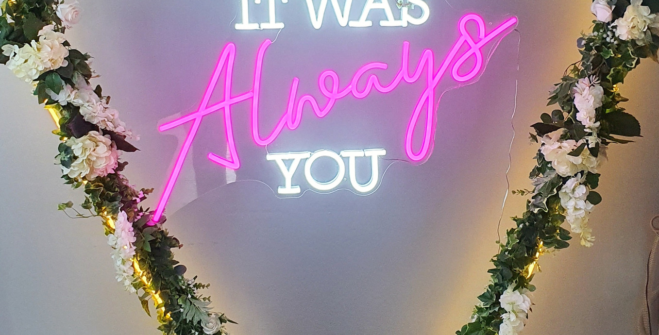 It was always you inside our beautiful Neon Ivy Heart