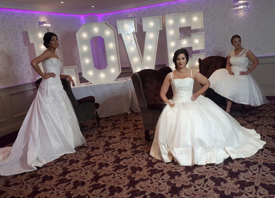 Stunning models at a bridal photo shoot