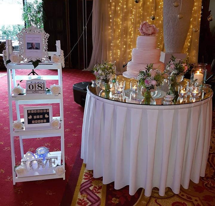Our ladder display really compliments the cake table!