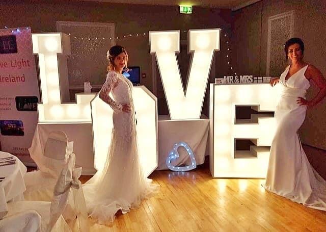 Stunning models at a wedding fair