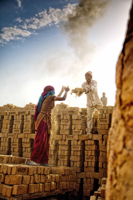 Brick kiln workers india