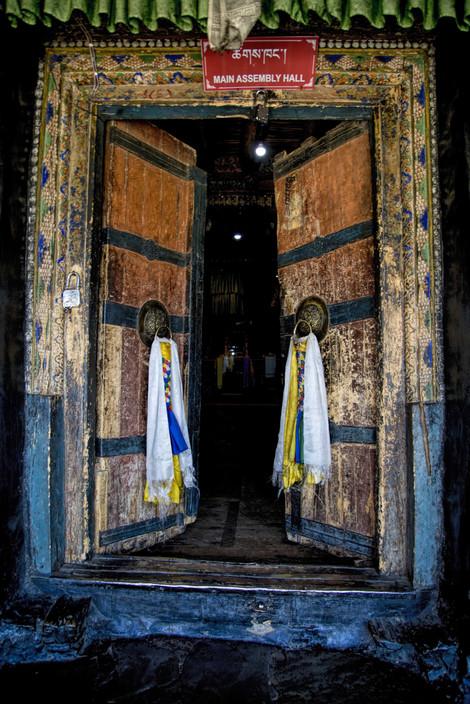 Traditional door to the monastery