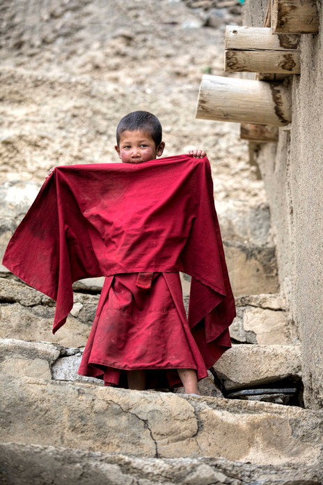 A young child monk