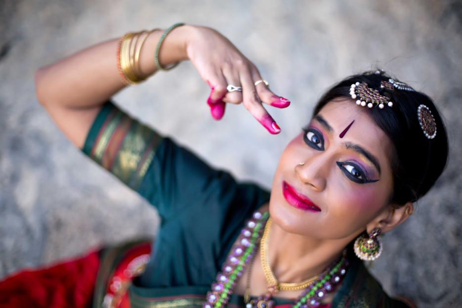 Bharatnatyam dance and mudra
