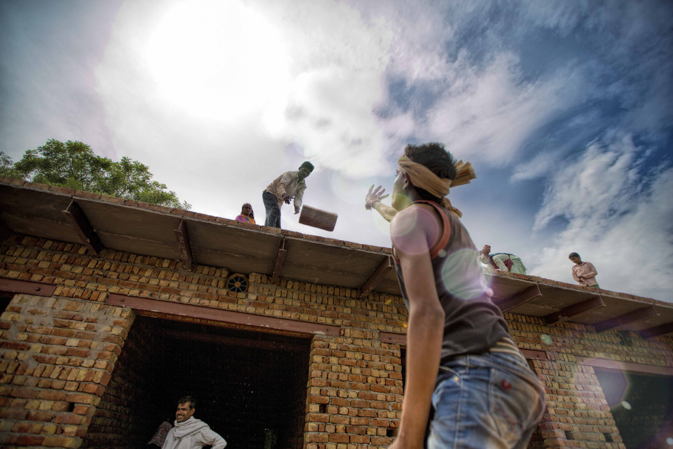 Brick kiln workers