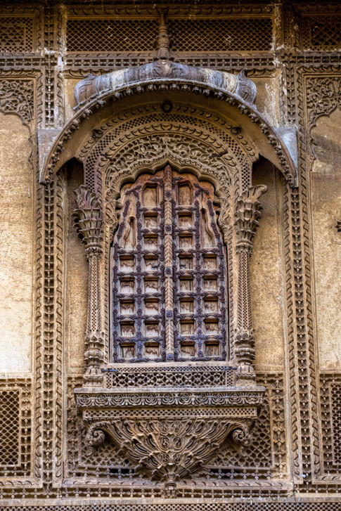 Intricate architecture at Patwon ki Haveli