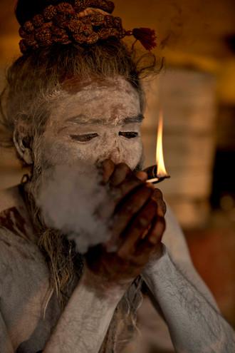 The Naga Sadhus love for smoking