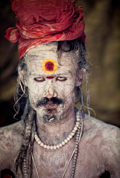 A stoned Naga Sadhu