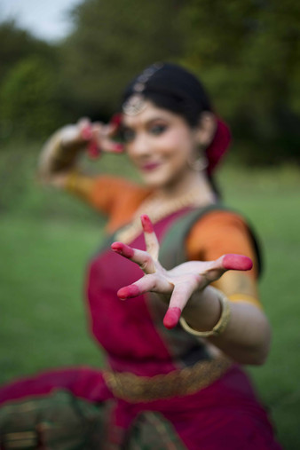 The hand sign of Bharatnatyam