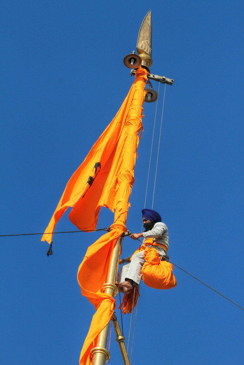 The flag at golden temple
