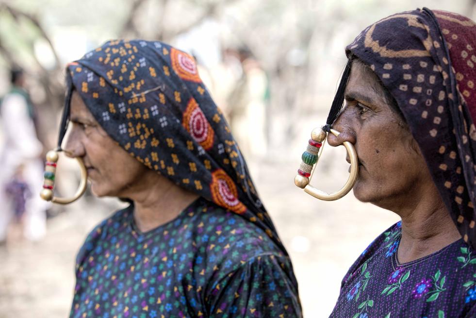 Dhaneta Jat woman and nose ring