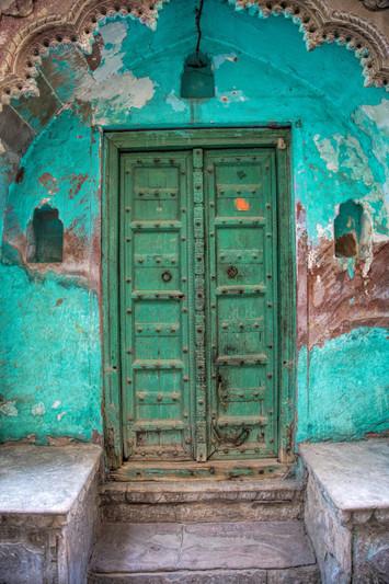 Door of a home in Mathura