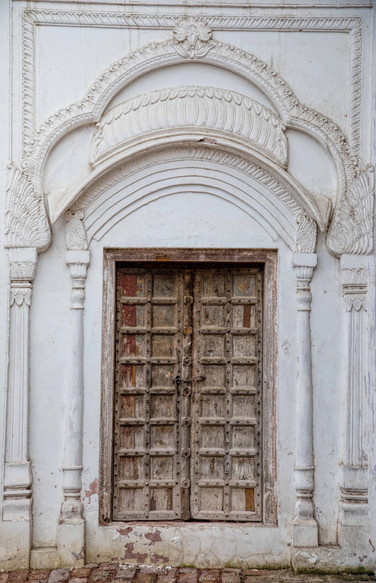 The wooden door in of Qila Mubarak