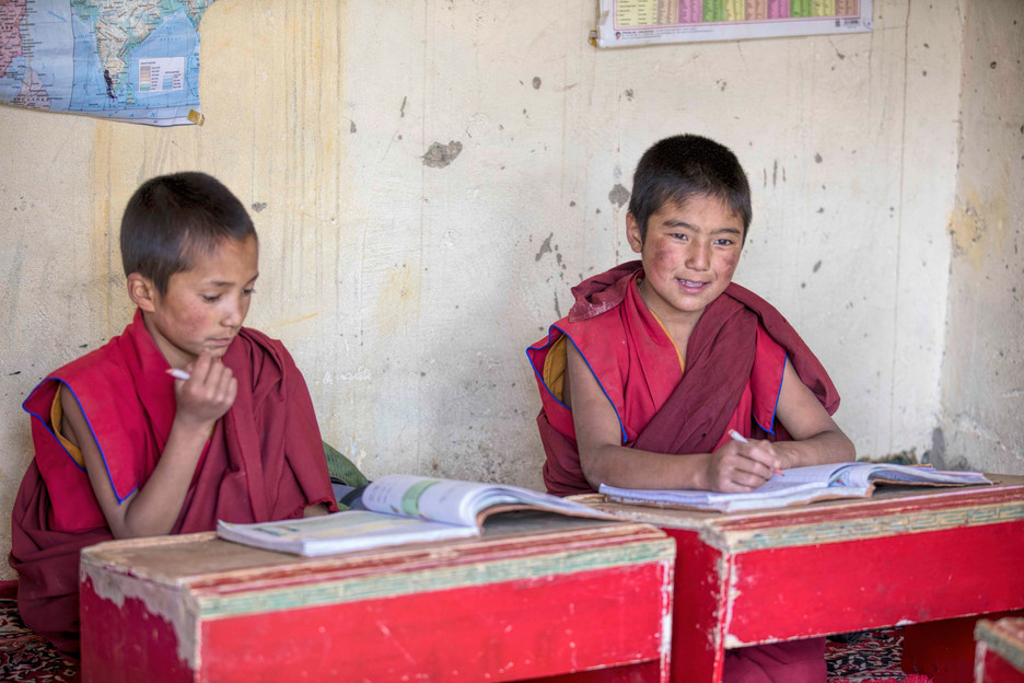 Classrooms have infrastructure and provisions for tje educastion of young monks