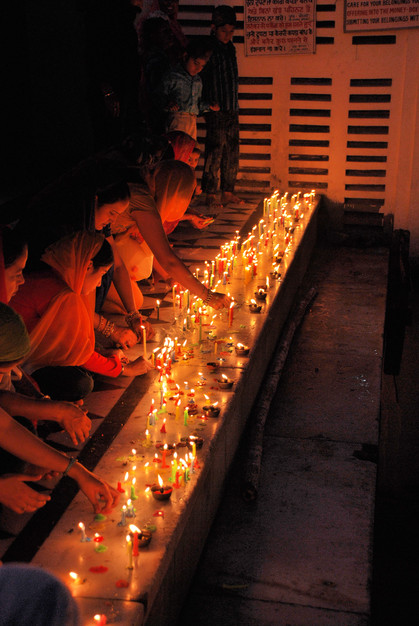 Golden temple on Diwali