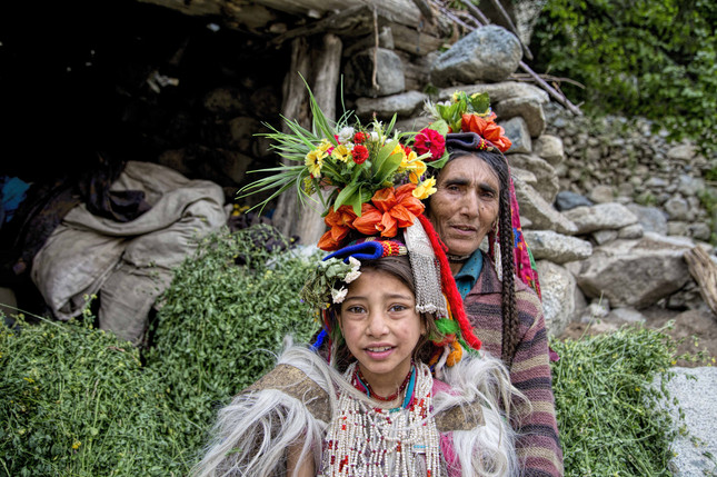 A brokpa family in Himalays