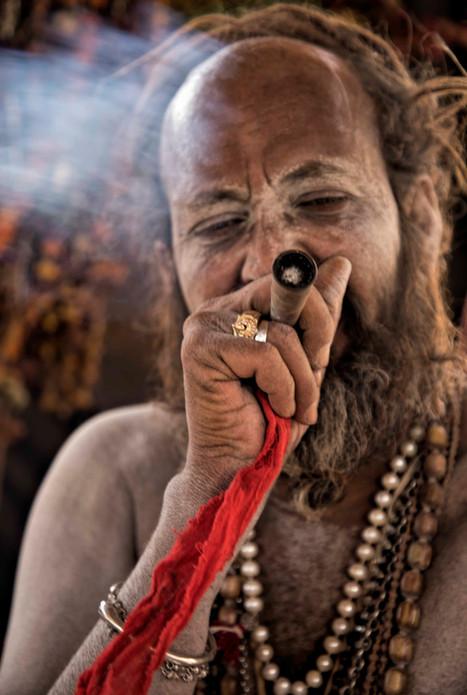 Portrait of Naga Sadhu
