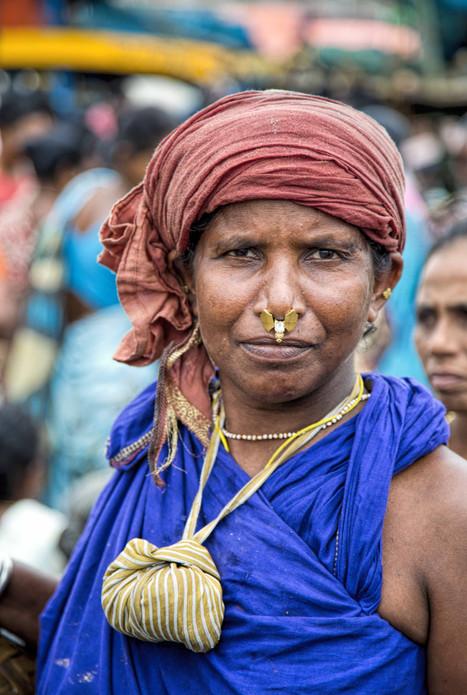 Fisherwoman in her work attire
